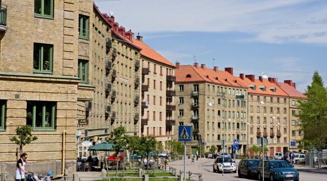 Olivedal, en del av Linnéstaden, från Järntorget i norr till Linnéplatsen i söder. Olivedal – ett fint bostadsområde med många sökande till lediga lägenheter.